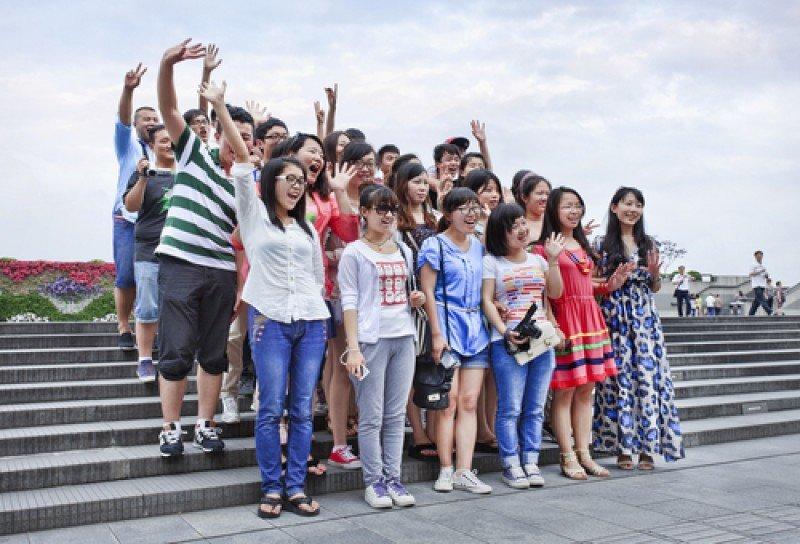 Un grupo de turistas procedentes de China. #shu#