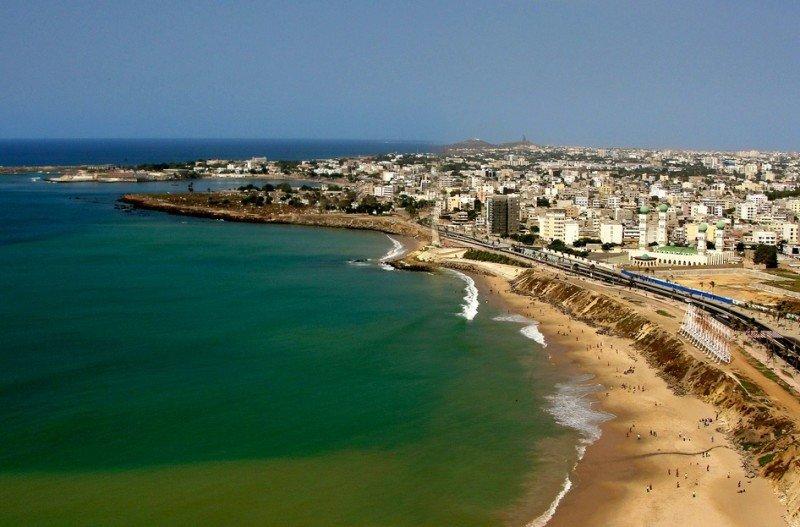 España y Senegal amplían la relación aérea entre ambos países. En la foto, costa de Dakar, capital senegalesa.