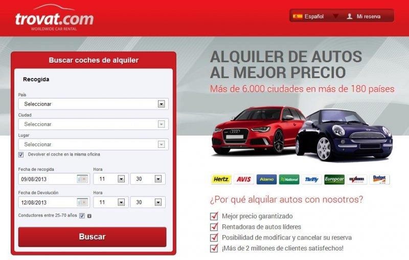El nuevo producto de MTG es un comparador de precios de alquiler de autos