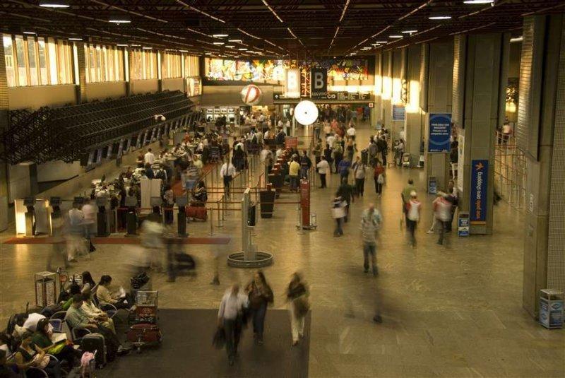 El aeropuerto de Guarulhos, en Sao Paulo, es uno de los más activos de la región