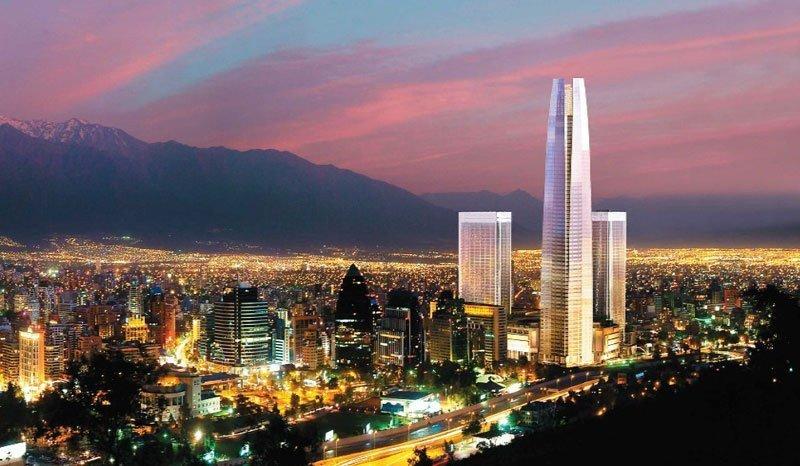 Así se verá Santiago cuando el Costanera Center esté completo, con el rascacielos más alto de Sudamérica