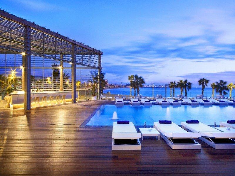 Barcelona registró la mejor tasa de ocupación. Hotel W Barcelona.