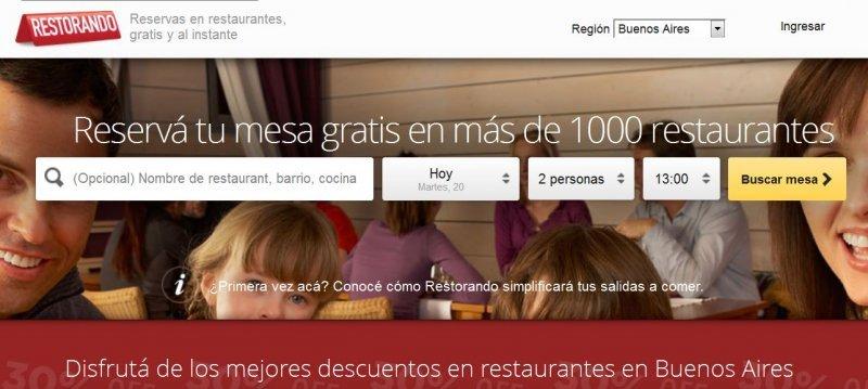 Se pueden realizar reservas en cuatro países de Sudamérica.