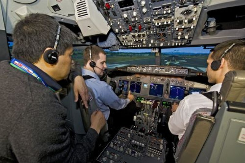 Simulador de vuelo de Boeing