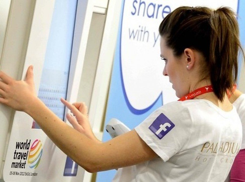 Imagen de la World Travel Market 2012, donde se presentó una aplicación basada en Facebook.