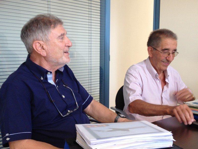 Mariano Bendito y Lorenzo Moll, los impulsores.