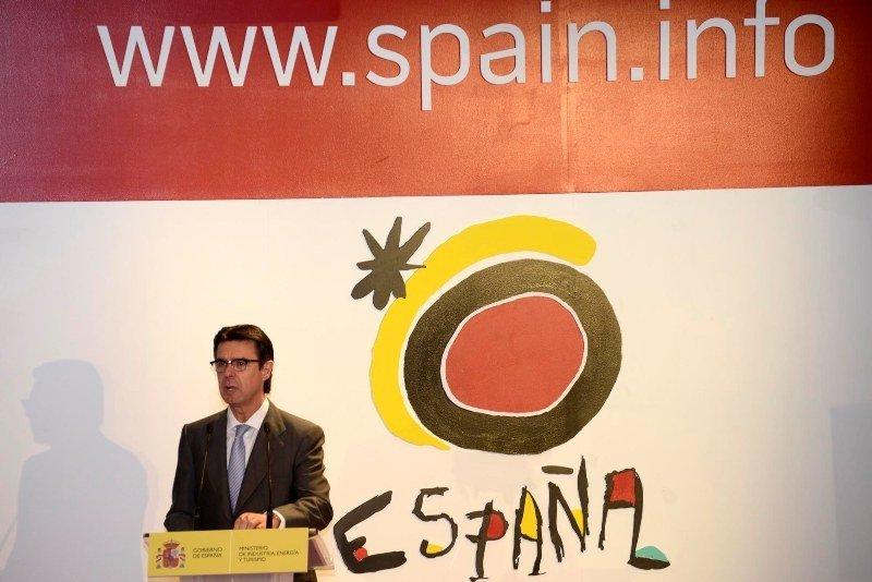 José Manuel Soria, durante la presentación del renovado portal Spain.info el pasado mes de junio. Foto: Ministerio de Industria, Energía y Turismo.