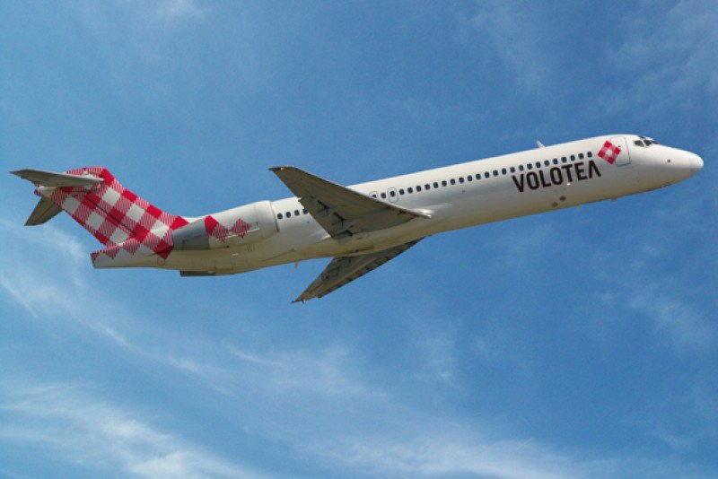 Un avión de la aerolínea low cost Volotea.