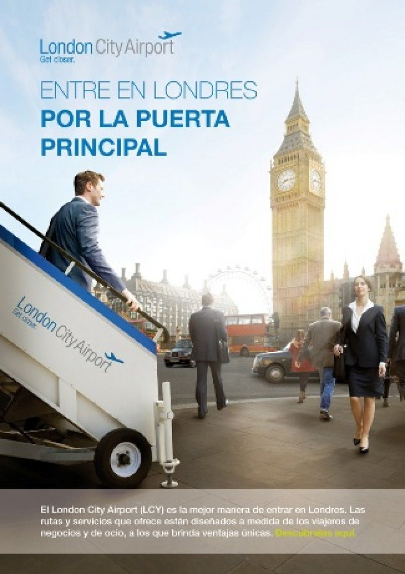 London City Airport se promociona en España con un e-book