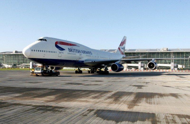 British Airways en la T5 del Aeropuerto de Londres-Heathrow.