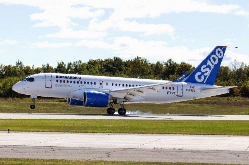 Tras cinco años de desarrollo, el primer Bombardier CSeries realiza su primer vuelo de prueba.