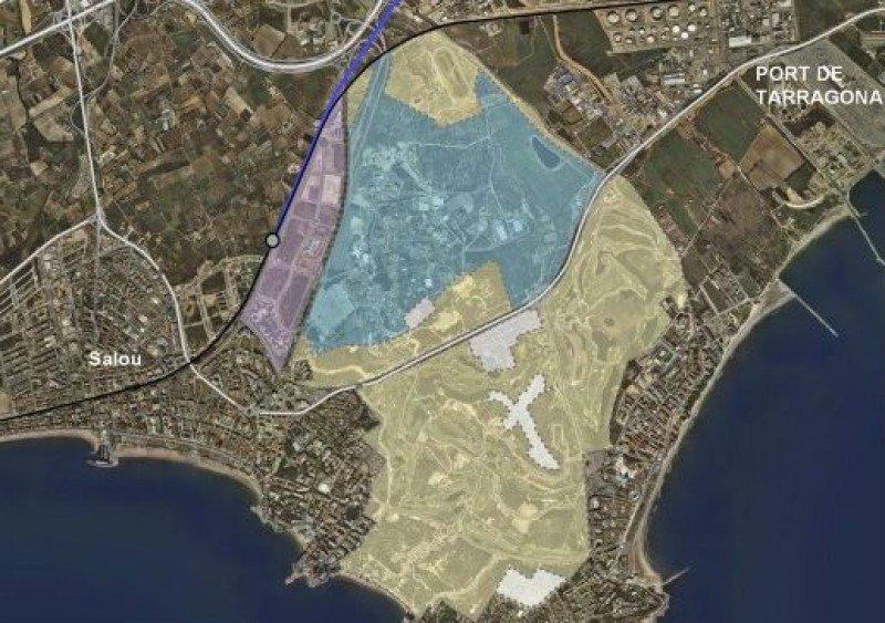 Plano de Barcelona World, en la provincia de Tarragona.
