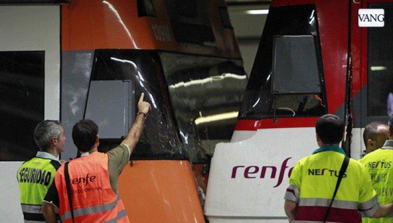 Choque de trenes en Barcelona deja 22 heridos