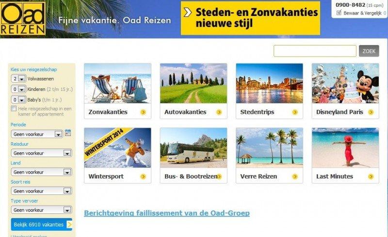Quiebra el turoperador holandés OAD Reizen