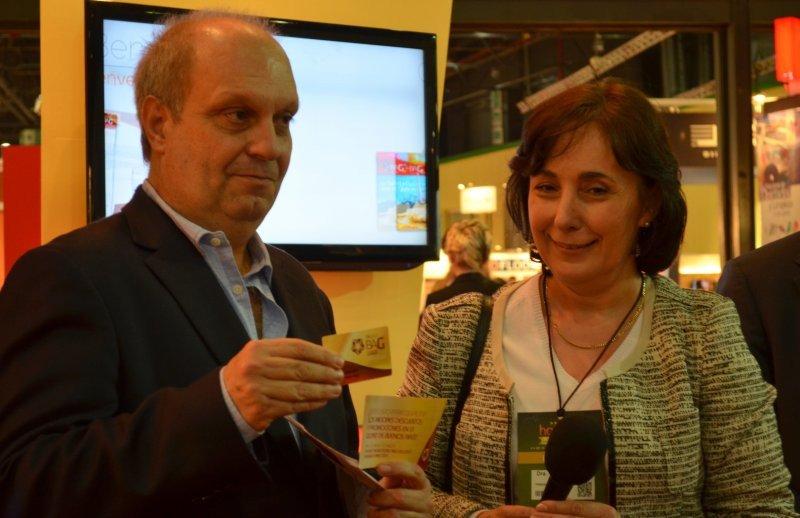 Hernán Lombardi (Ente Turismo de la ciudad de Buenos Aires) y Graciela Fresno (Asociación de Hoteles, Restaurantes, Confiterías y Afines).