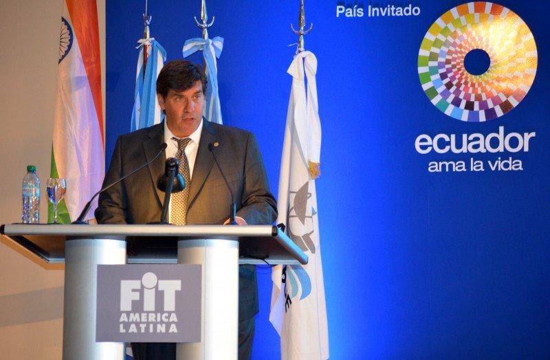 Fabricio Di Giambattista, presidente de AAAVYT, durante el acto inaugural de FIT 2013.