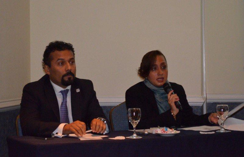 Fidel Ovando, presidente AMAVDF y Verónica Morales González, Subdirectora de Operaciones (Secretaría de Turismo de Ciudad de México).