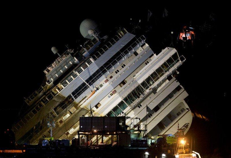 Concluye la operación de rotación del Costa Concordia