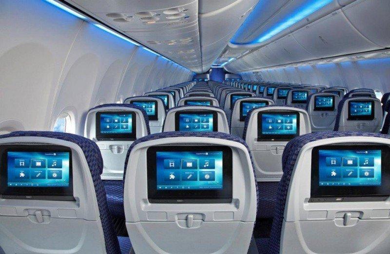 Interior de los Boeing 737-800 Sky Interior que Copa ha incorporado a su flota.