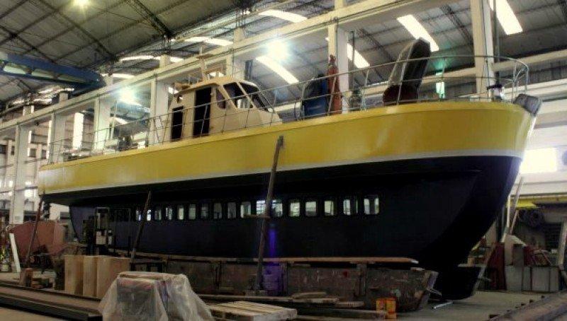 El barco está siendo construido en un astillero de Mar del Plata.