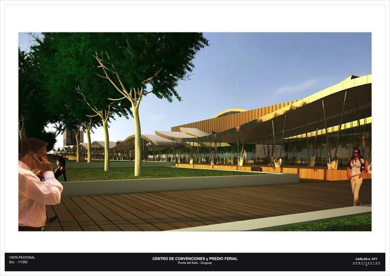 Proyecto del arquitecto Carlos Ott sobre el cual debe basarse el diseño del Centro de Convenciones