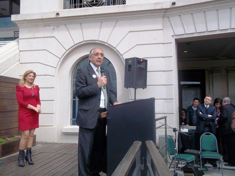 Sergio Bañales, presidente de Audavi, en la apertura formal de la feria