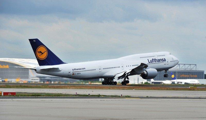 El Boeing 747-8 de Lufthansa.