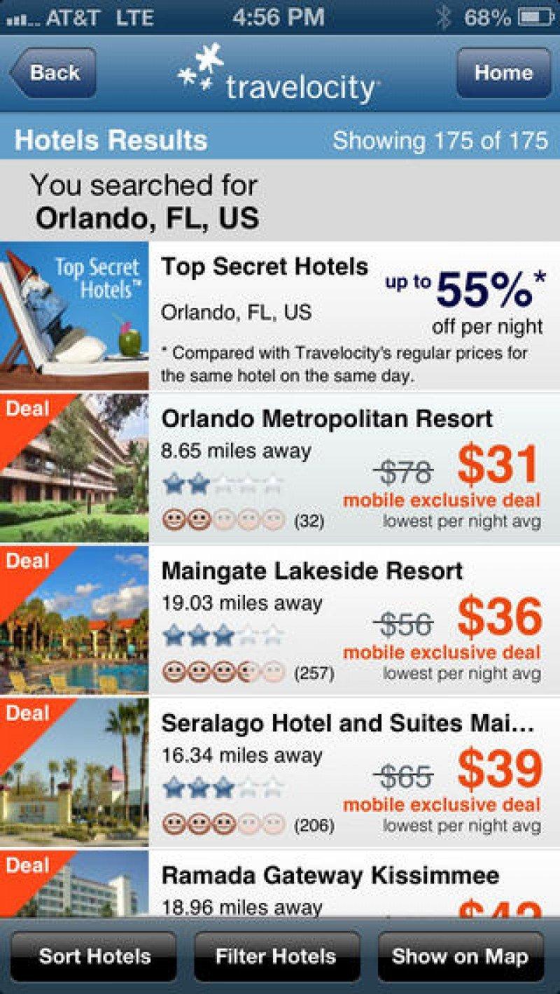 Travelocity lanza app para reservar hoteles desde el nuevo iPhone