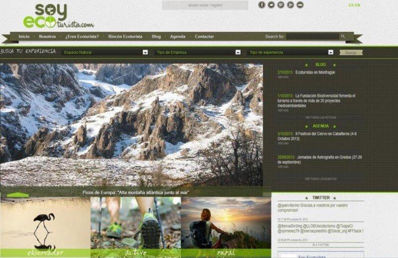 soyecoturista.com, primer portal de la oferta privada española en turismo de naturaleza.