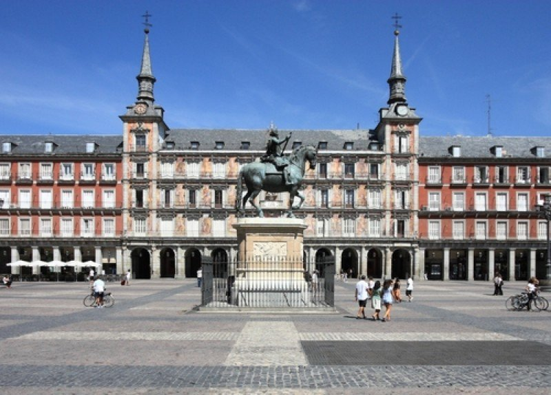 La Plaza Mayor de Madrid. #shu#