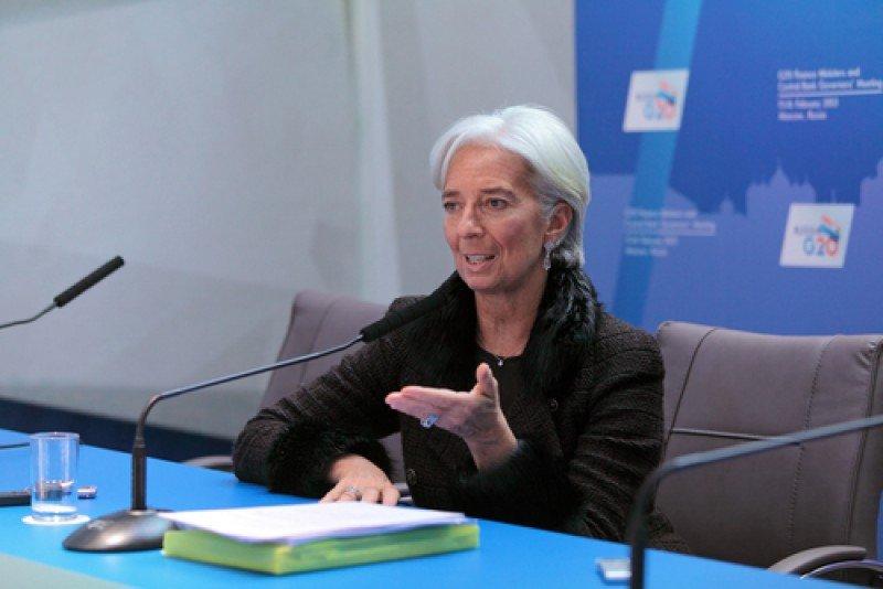Christine Lagarde, directora del FMI. #shu#
