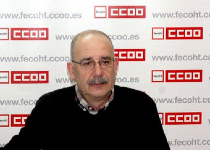 Antonio Ruda, secretario de comunicación de Fecoht – CCOO.