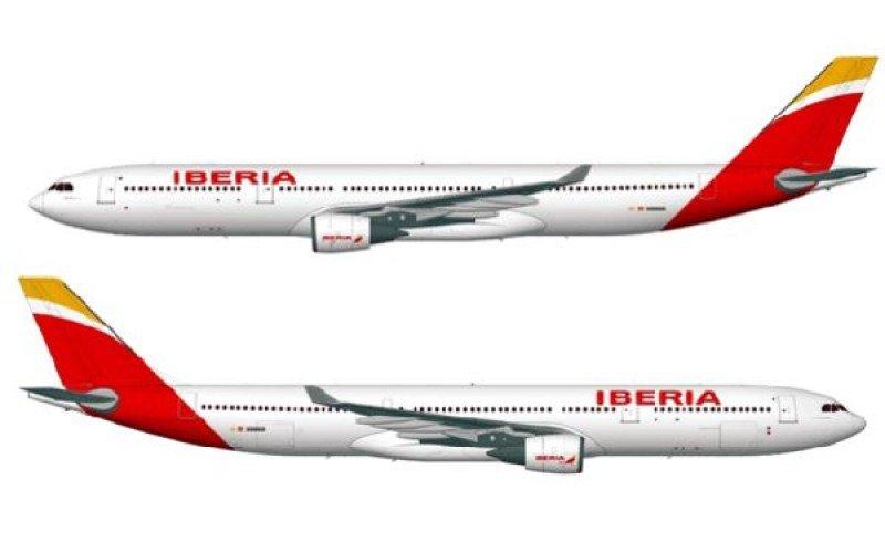 Nueva imagen de marca de Iberia en sus nuevos aviones.