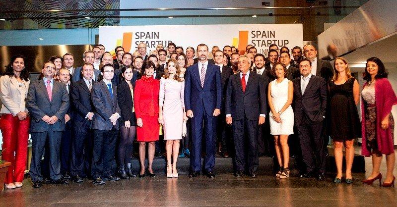 La entrega de los premios Spain Startup fue presidida por el Príncipe de Asturias. CLICK PARA AMPLIAR IMAGEN.