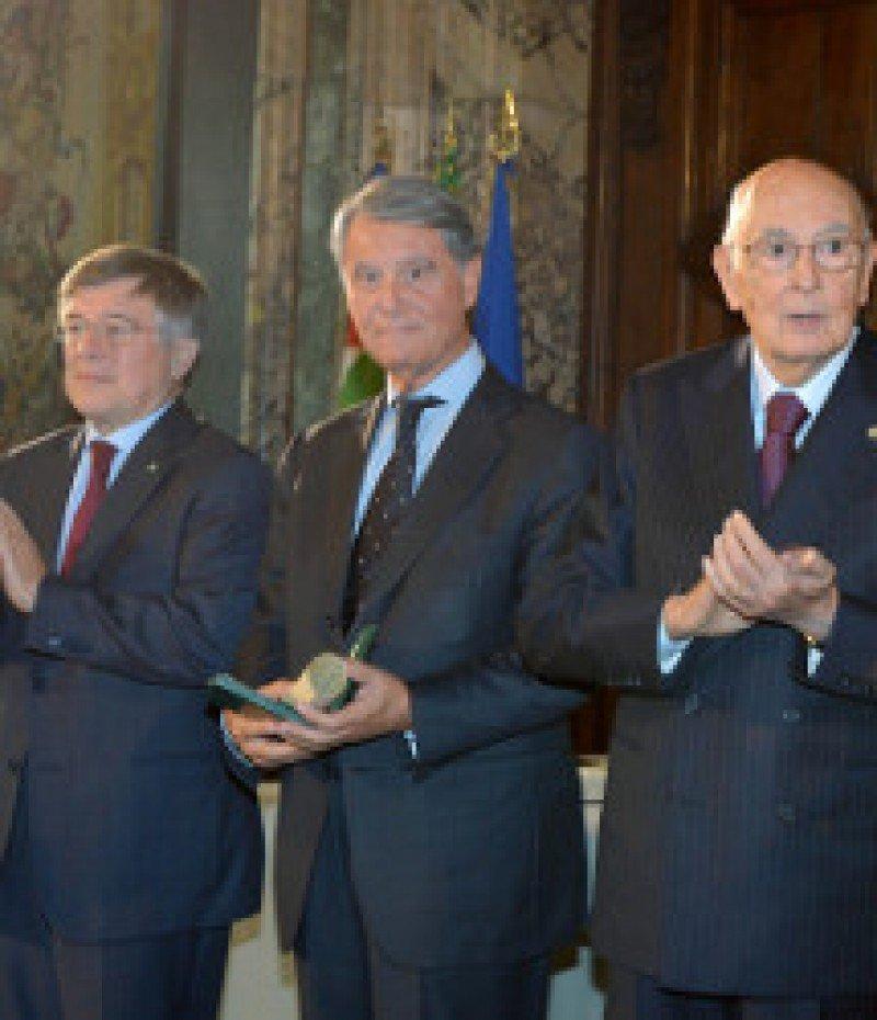 El presidente de MSC recibe la Orden italiana al Mérito en el Trabajo