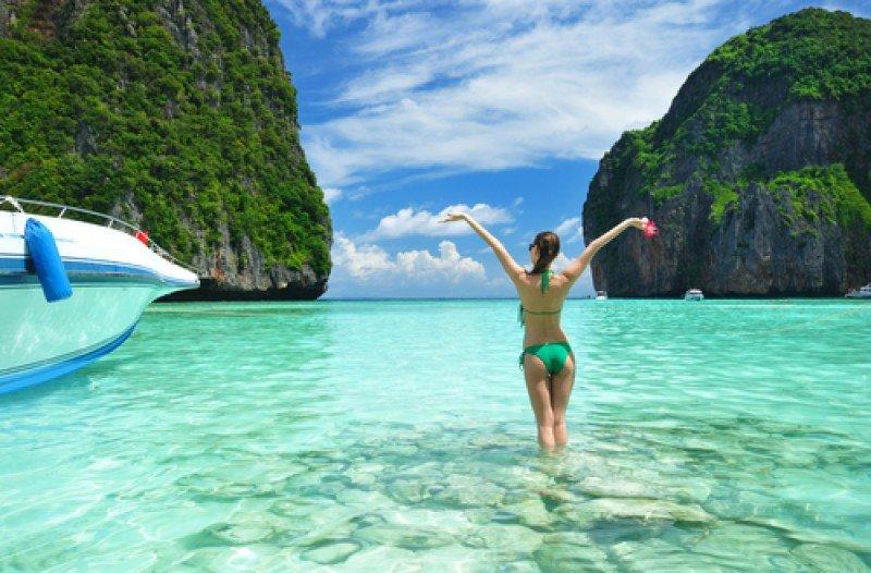Playa en el archipiélago de Phi Phi, al sur de Tailandia. #shu#
