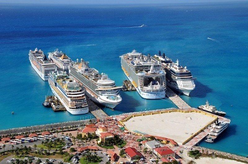 Cruceros en la isla de Saint Marteen