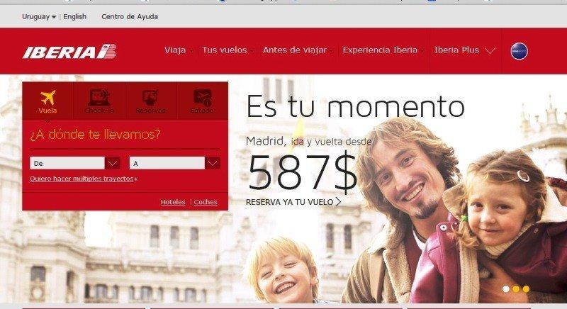 En la página web de Iberia se podrá hacer donaciones