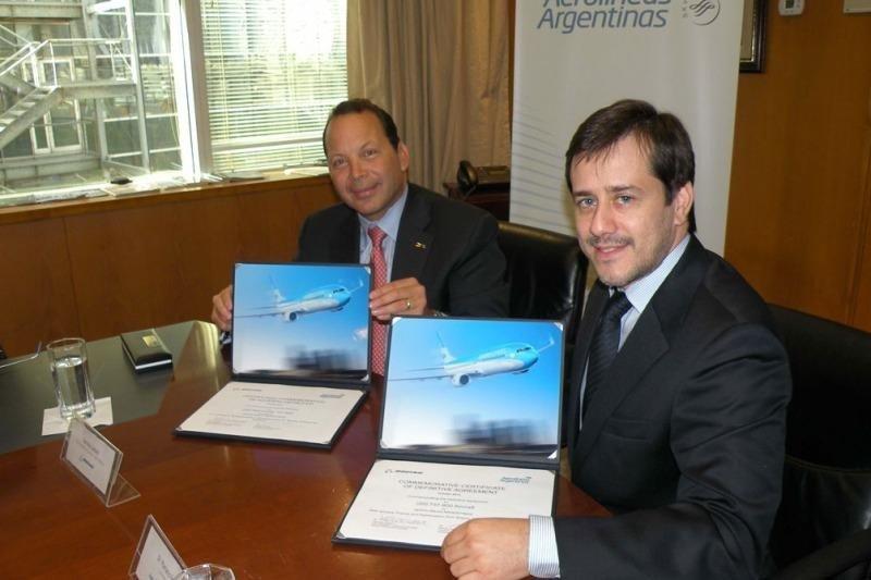 Van Rex Gallard (Boeing) y Mariano Recalde (Aerolíneas Argentinas).
