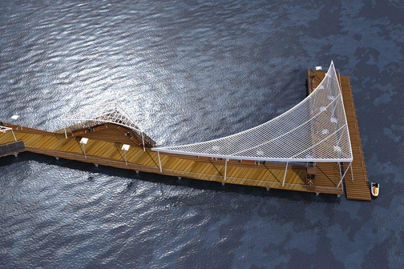 El muelle tiene 150 metros y área de embarque.