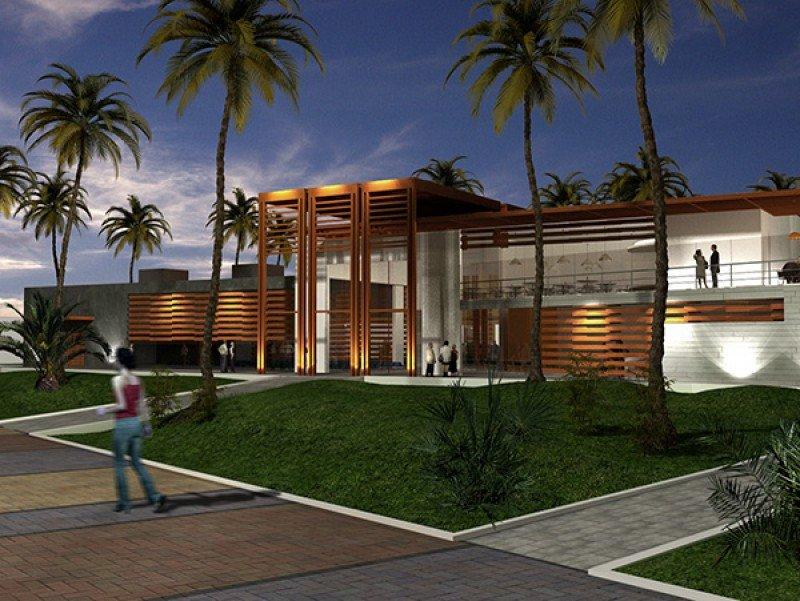 El edificio cuenta con cafeterpias, tiendas, sala de usos múltiples y recepción