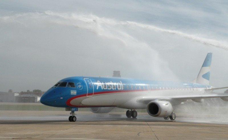 Austral completa su flota de 22 aviones para vuelos de cabotaje y regionales