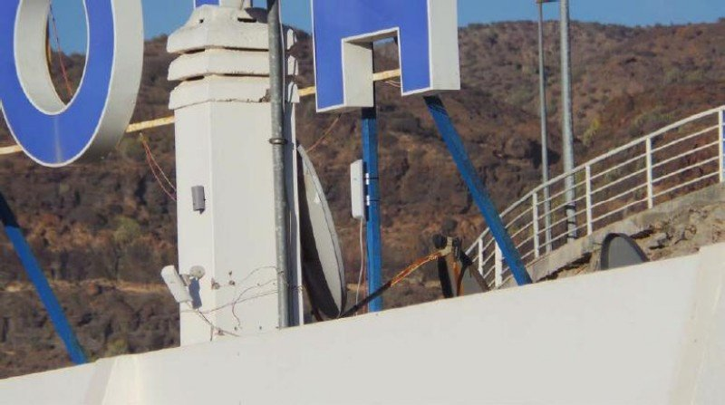 Imagen de una de las antenas de wifi 'atacantes'.