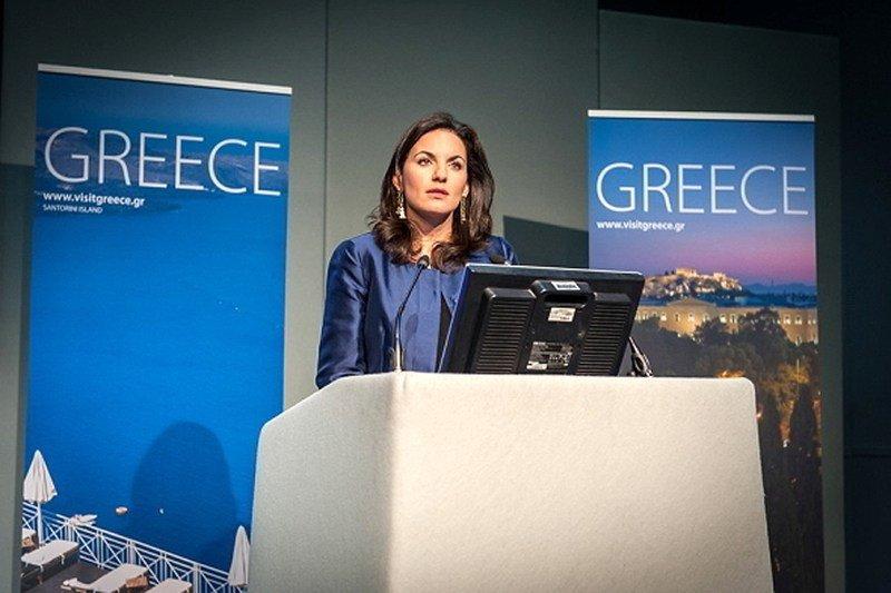 La ministra griega de Turismo, Olga Kefalogianni.