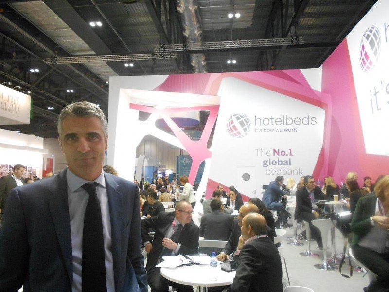 Carlos Muñoz, director general de Hotelbeds, en la World Travel Market.