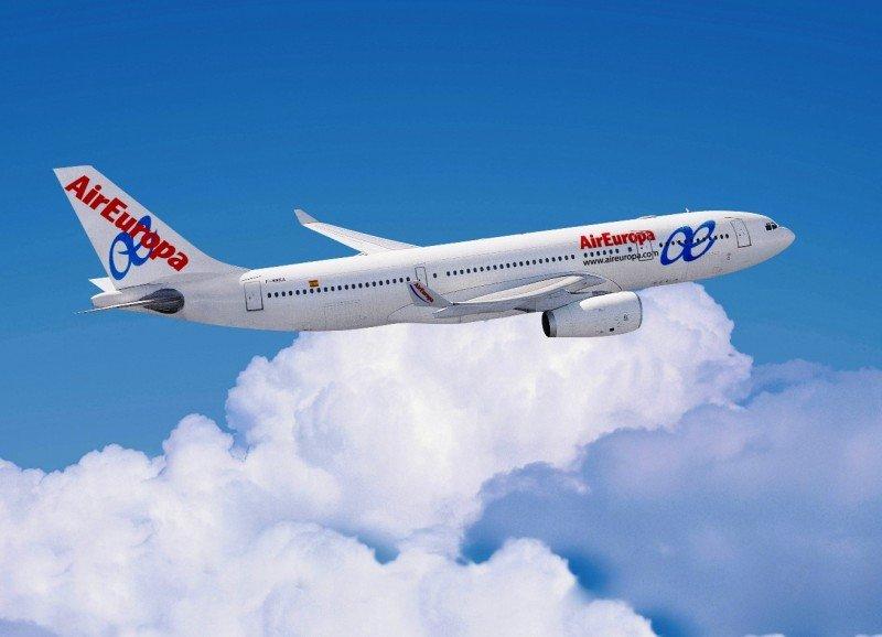 Air Europa operará su nueva ruta entre Madrid y San Juan de Puerto Rico con un Airbus A330-200.