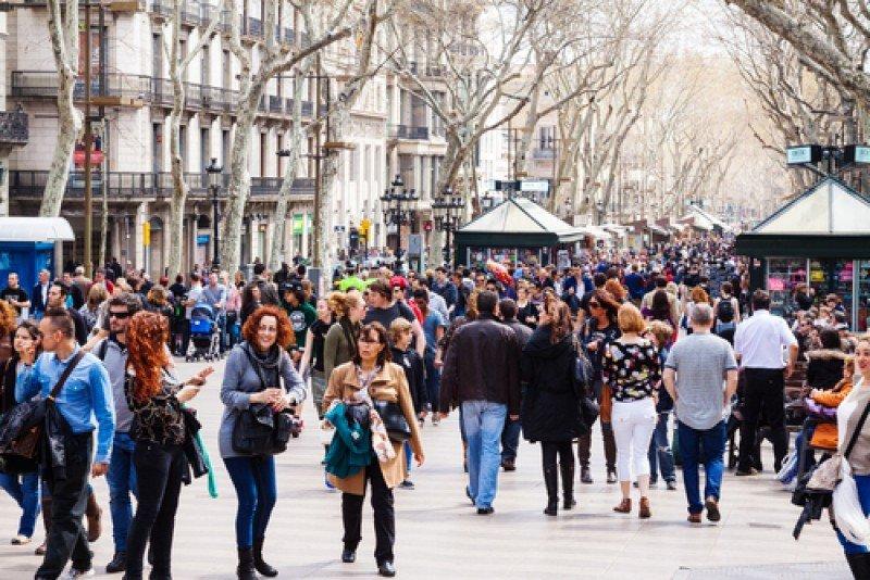 Las Ramblas de Barcelona. #shu#