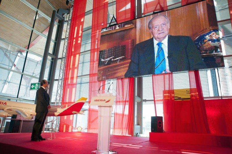El Rey envió un mensaje grabado para apoyar a Iberia en el arranque de su nueva etapa.