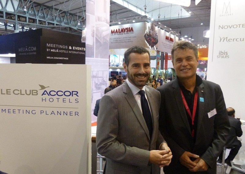 Flavio Leoni y Ludovic Dupont, en la feria EIBTM de Barcelona celebrada esta semana.