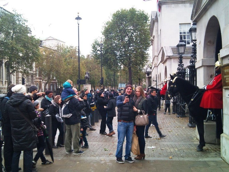 Turistas en Londres.